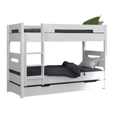 Milo Stackable Single Bunk Bed, White