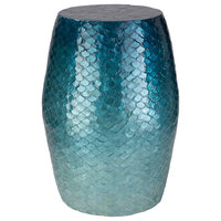 Blue Ocean Accent Stool