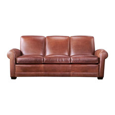 Exeter Leather Sofa, Brown