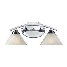 Elysburg 2-Light Vanity, Polished Chrome