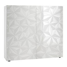 Praga Geometric Sideboard, White