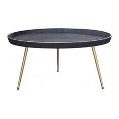 Nuevo Living Josephine Coffee Table Black Faux Shagreen
