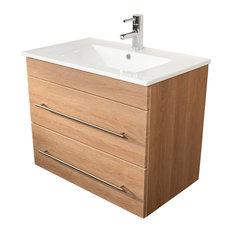 Emotion Casa Infinity 750 Bathroom Furniture, 80 cm, Light Oak