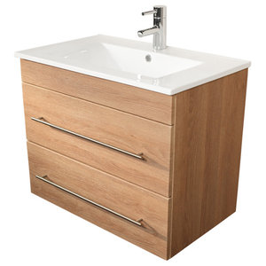 Emotion Casa Infinity 750 Bathroom Furniture, 80 cm, Light Oak