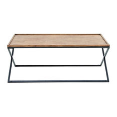 """GwG Outlet Metal Wooden Coffee Table, 48""""x19"""""""