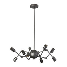 Copernico 8-Light Chandelier With Adjustable Arms, Matte Black