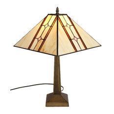 AMORA LIGHTING LLC   Amora Lighting Tiffany Style Mission Table Lamp   Table  Lamps