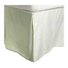 "Cotton Rich Soft Bed Skirt, 15"" Drop Down, Mint, King"