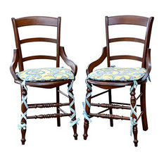 Consigned Antique English Country Chairs, Set of 2