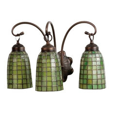 Bathroom Vanity Glass Shades bathroom vanity lights with a green shade and a glass shade | houzz
