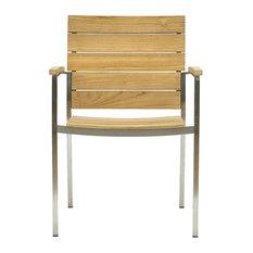 Castillon Teak Stackable Outdoor Dining Chair, Natural