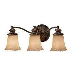 Feiss   Monte Carlo   Emma 3 Light Bathroom Vanity Lights, Grecian Bronze