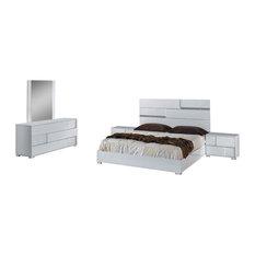 Modrest Ancona Eastern King Italian Modern White Bedroom Set