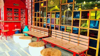 Industrial Restaurant Coffee Tables and Benches