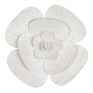 Wall Flowers White Set Of 3 Contemporary Metal Wall Art By Stratton Home Decor