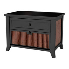 Sierra Living Concepts - Key West Bamboo Solid Wood Nightstand With Drawer - Nightstands and Bedside Tables