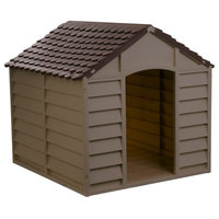 Starplast Large Dog House / Kennel,  Mocha/Brown
