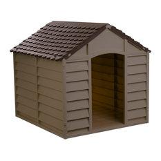 Starplast Large Dog House / Kennel,  Mocha/Brown