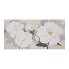Madison Park Midday Bloom Florals Paint Embellished Canvas