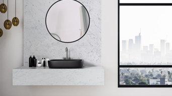 Bathroom - Bianco Carrara Porcelain