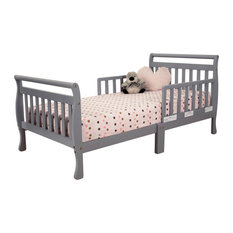 Baby Mile Bailey Sleigh Toddler Bed, Gray