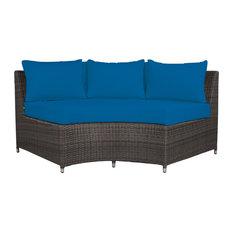 Circa 3-Seat Bench, Highback, Pacific Blue