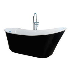 AQUA PLUS - Lalie Freestanding Black Bathtub - Baths