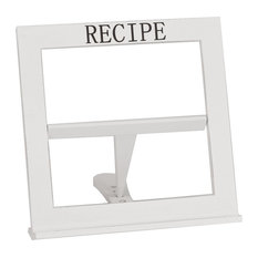 Simple White Cook Book Stand