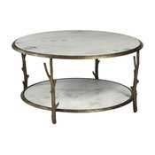 Accentrics Home Marble Coffee Table, White