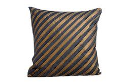 "Gray Decorative Pillow Shams 24""x24"" Silk, Unfolding Gray Copper"
