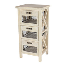 3 Drawer Wood Cabinet With Mesh Drawers 16-inch?x 32-inch