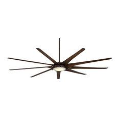 "MinkaAire Ninety-Nine Ninety-Nine 99"" 9 Blade LED Indoor Ceiling Fan with Remot"