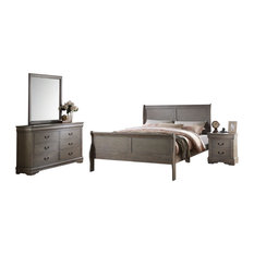Residence  McComb 4Piece Bedroom Set Gray Queen Furniture Sets Farmhouse Bedroom Furniture Sets91