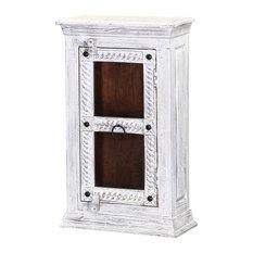 Winter White Tudor Reclaimed Wood Bathroom Wall Vanity Box