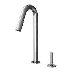 Apex Pulldown Faucet With Dual Spray & Single Lever, Polished Chrome