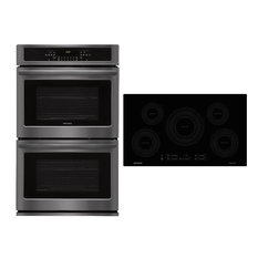 """2 Piece Kitchen Appliances Package with FFET3026TD 30"""" Electric Double Wall Oven"""