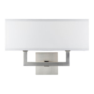 Craftmade Denton  Polished Nickel Wall Sconce With Linen Fabric Shade