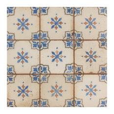 "SomerTile 13""x13"" Mirambel Ceramic Floor and Wall Tile, Azul, Case of 10, Azul"