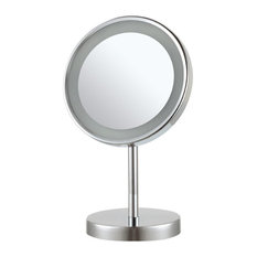 Free Standing 3x Makeup Mirror, Chrome