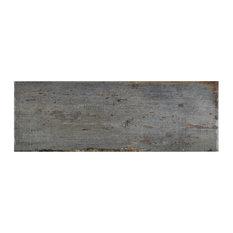 "8.25""x23.5"" Lambris Plank Porcelain Floor/Wall Tiles, Set of 8, Gray"