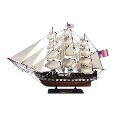 """Wooden USS Constitution Tall Model Ship 24"""""""