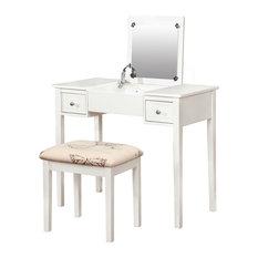 White Bedroom Vanities bedroom and makeup vanities | houzz
