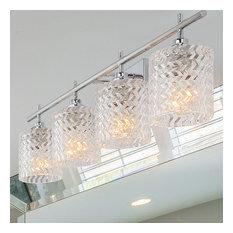 Vanity Art Modern Crystal Cut 4-Light Vanity Fixture