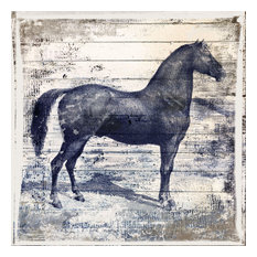 """""""Black Horse II"""" Painting Print on Wrapped Canvas"""