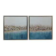 Hanging Art Painting With Champagne Border Frame, 2-Piece Set