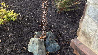 Rain Chain Stone Anchor