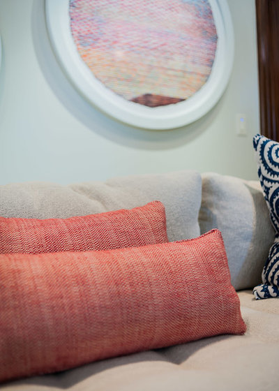 Room of the Day: Color and Pattern Enliven Family Room