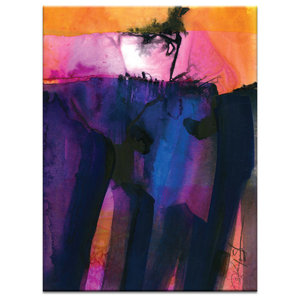 Watercolor Abstraction 30, Canvas Print