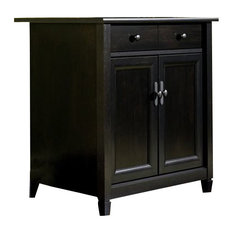 sauder sauder edge water utility stand in estate black accent chests and cabinets - Sauder Storage Cabinet