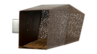 """Tunnel Corten Steel Cat Bed, """"Sire"""" Wall Support"""